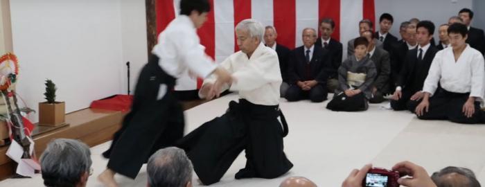 Aikido Doshu Demonstration - Aikikai Kagamibiraki 2017